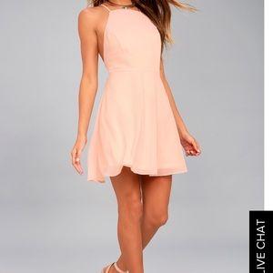 Blush Backless Skater Dress